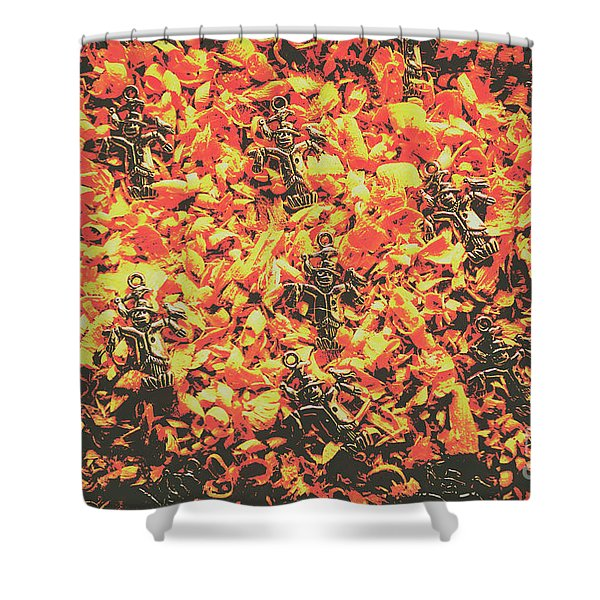 Scarecrows From Fires Burn  Shower Curtain