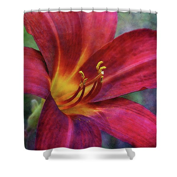 Scarlet And Gold Dust 3716 Idp_2 Shower Curtain