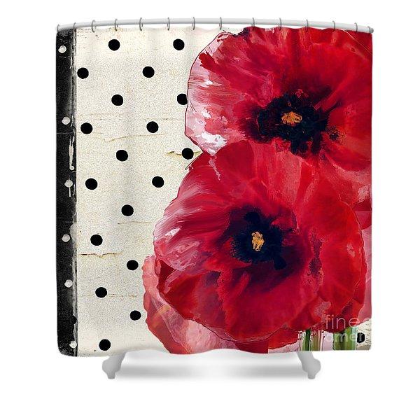 Scarlet Poppies Shower Curtain