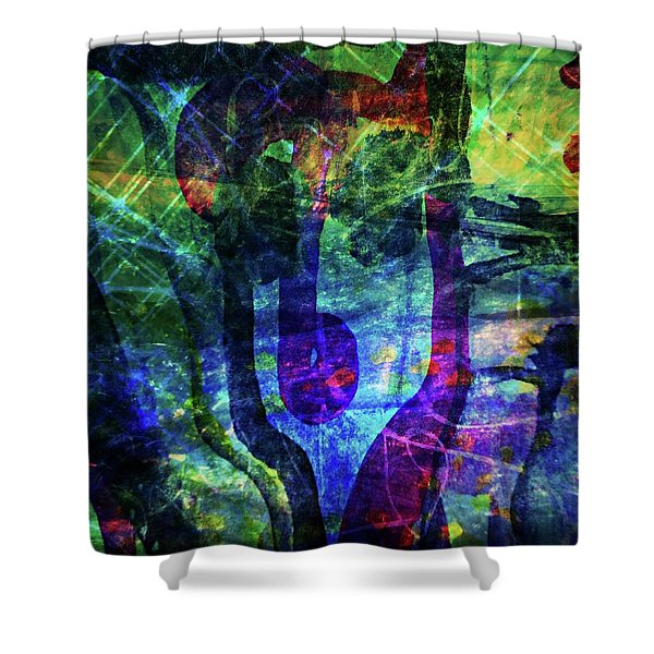 Scary Face-2 Shower Curtain