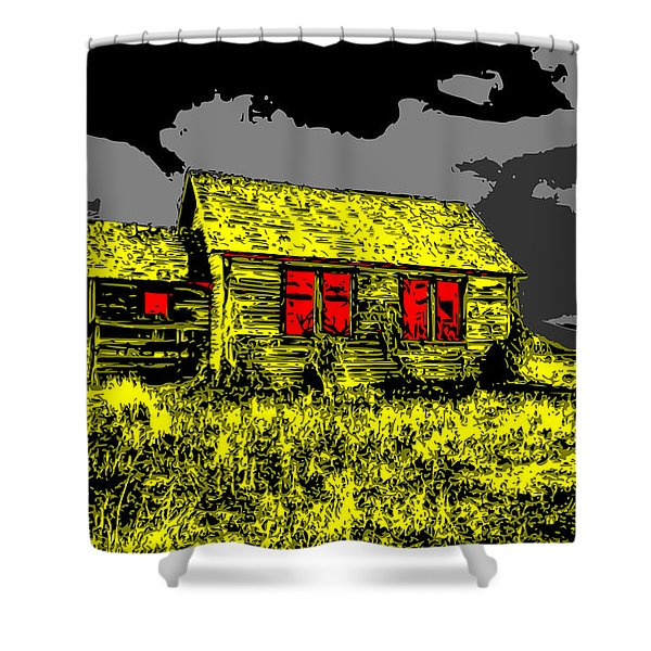 Scary Farmhouse Shower Curtain
