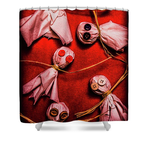Scary Halloween Lollipop Ghosts Shower Curtain