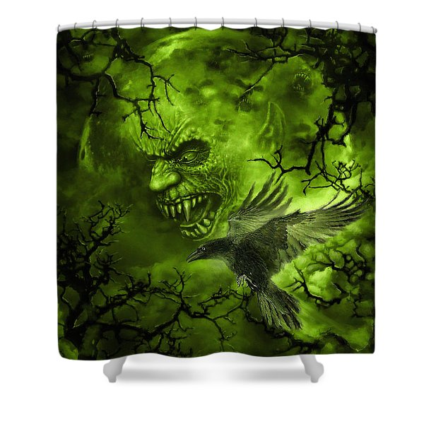 Scary Moon Shower Curtain