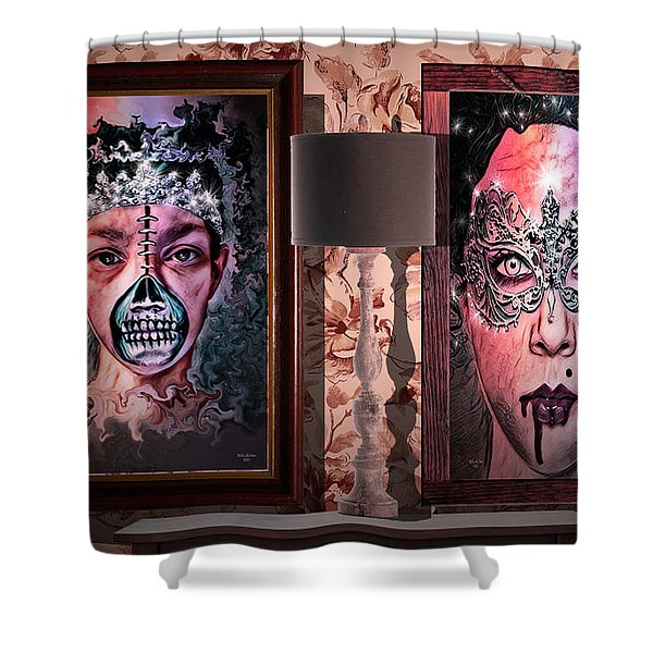 Scary Museum Wallart Shower Curtain