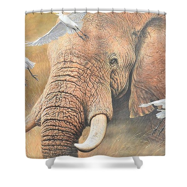Shower Curtain featuring the painting Scatter by Alan M Hunt