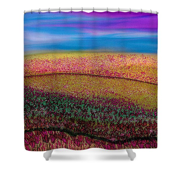 Scattered Stigma Shower Curtain