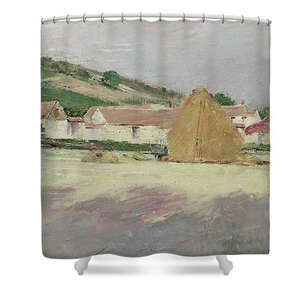 Scene At Giverny, 1890 Shower Curtain
