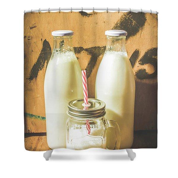Scene From A Vintage Milk Bar Shower Curtain