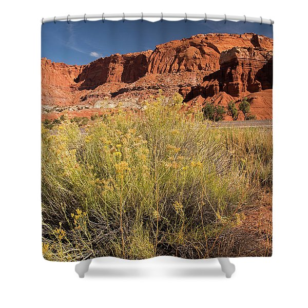 Scenery Capital Reef National Park Shower Curtain