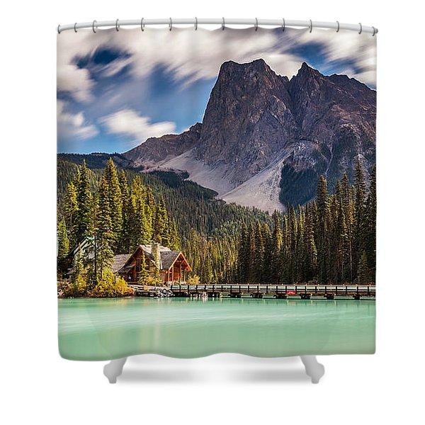 Scenic Emerald Lake  Shower Curtain