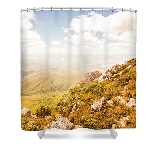Scenic Mountain Peak Shower Curtain