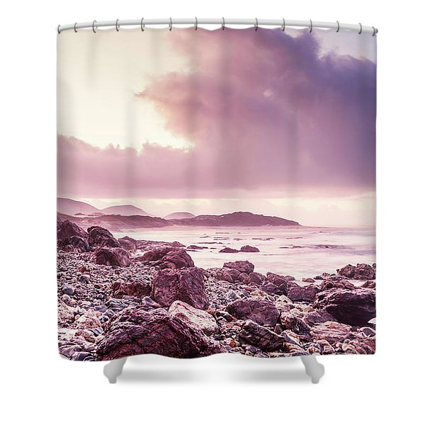 Scenic Seaside Sunrise Shower Curtain