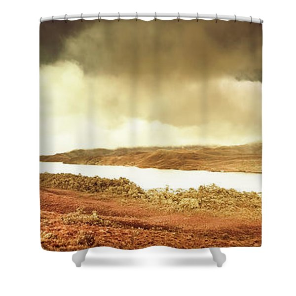 Scenic Southwest Tasmania Lakes Shower Curtain