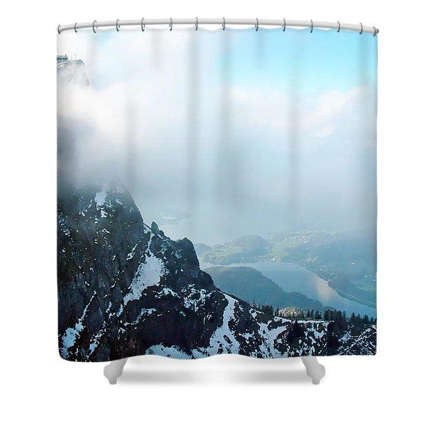 Schafberg Cliff Face Shower Curtain