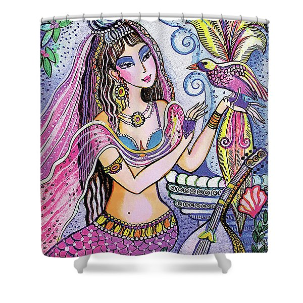 Scheherazade's Bird Shower Curtain