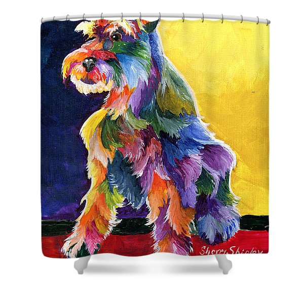 Schnauzer 3 Shower Curtain