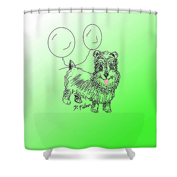 Schnauzer Shower Curtain