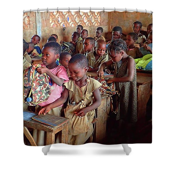School Children In Class In Togo Shower Curtain