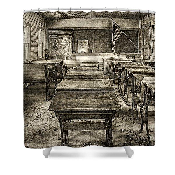 School Days - Sepia Shower Curtain