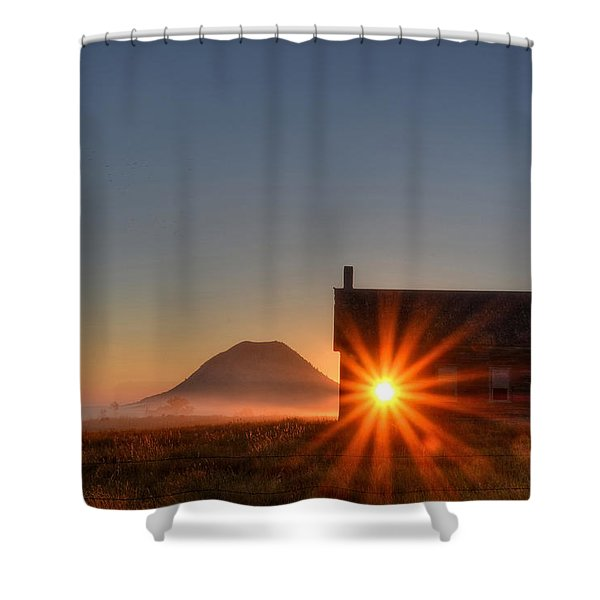 Schoolhouse Sunburst Shower Curtain