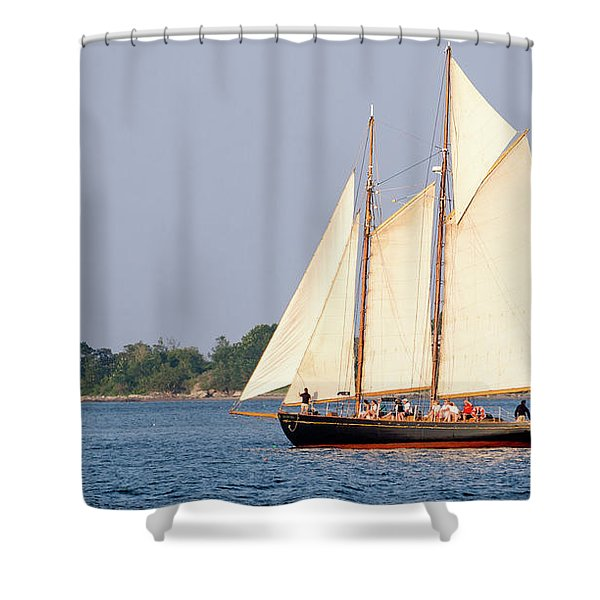 Schooner Cruise, Casco Bay, South Portland, Maine  -86696 Shower Curtain