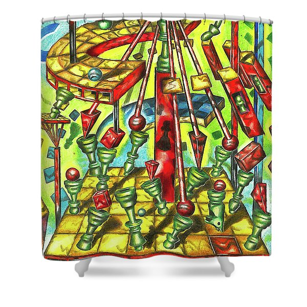 Science Of Chess Shower Curtain