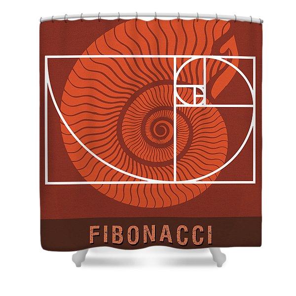 Science Posters - Fibonacci - Mathematician Shower Curtain