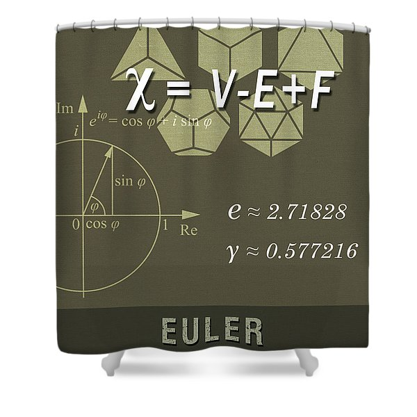 Science Posters - Leonhard Euler - Mathematician, Physicist, Engineer Shower Curtain