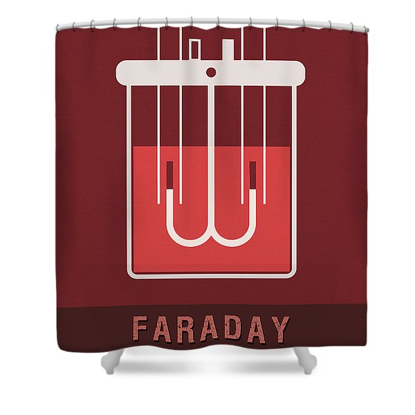 Science Posters - Michael Faraday - Physicist, Chemist Shower Curtain