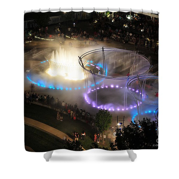 Scioto Mile Riverfront Park Shower Curtain