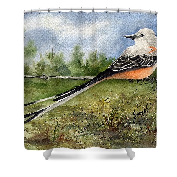 Scissor-tail Flycatcher Shower Curtain