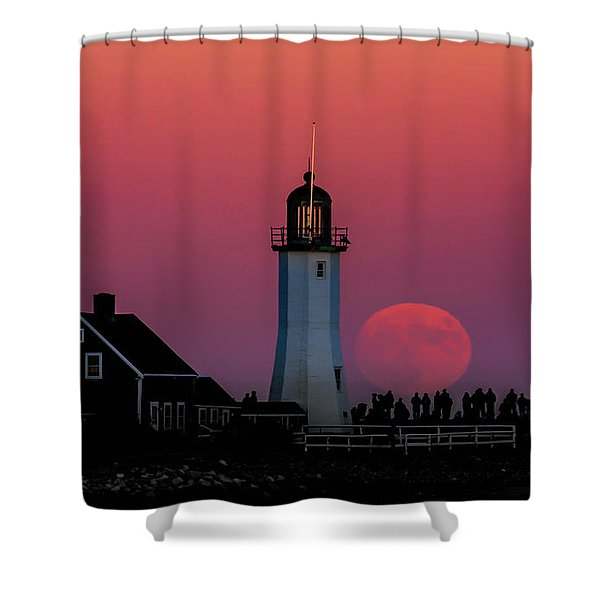 Scituate Supermoon Shower Curtain
