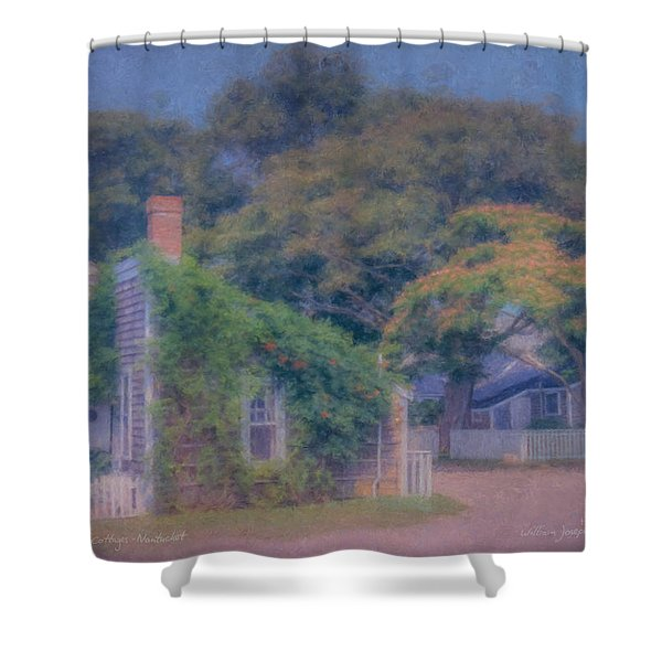 Sconset Cottages Nantucket Shower Curtain