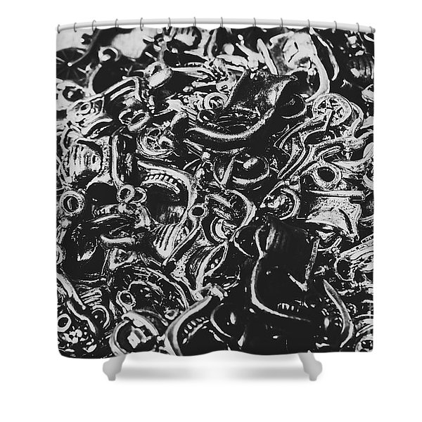 Scooter Mechanics Abstract Shower Curtain