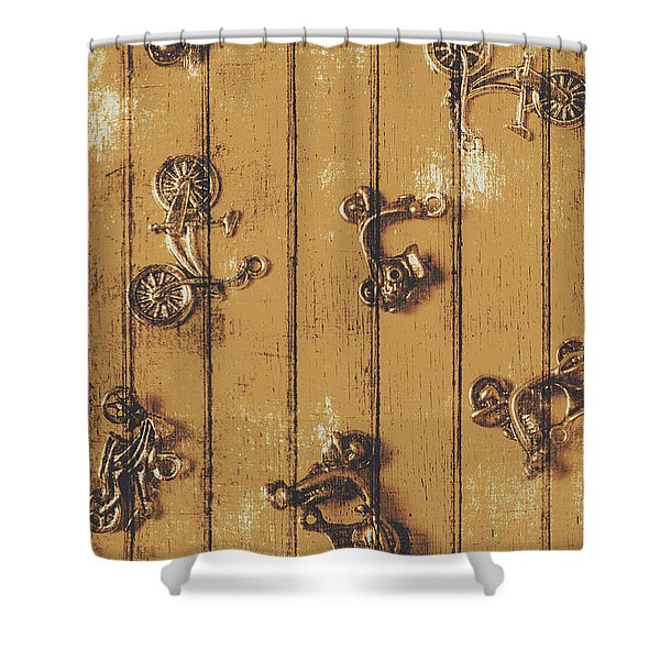 Scooter Shed  Shower Curtain