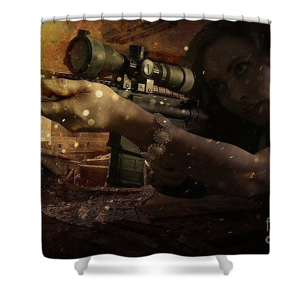 Scopped Shower Curtain