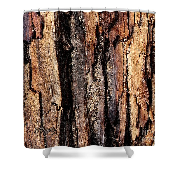 Scorched Timber Shower Curtain