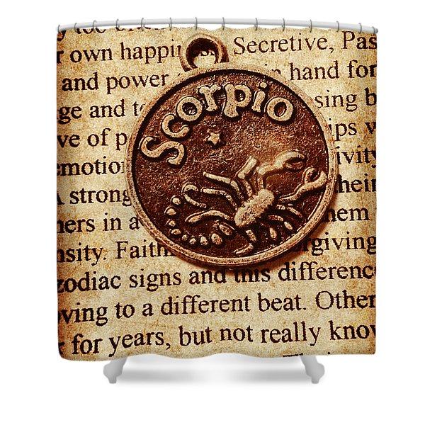 Scorpio Parchment Shower Curtain