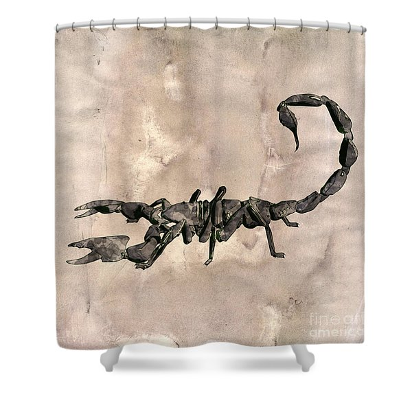 Scorpion Pop Art By Mary Bassett Shower Curtain