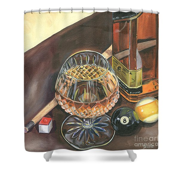 Scotch Cigars And Pool Shower Curtain