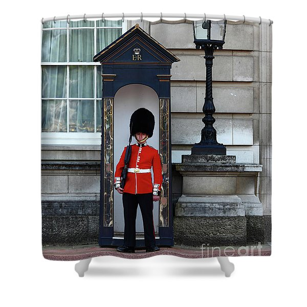 Scots Guard Buckingham Palace Shower Curtain