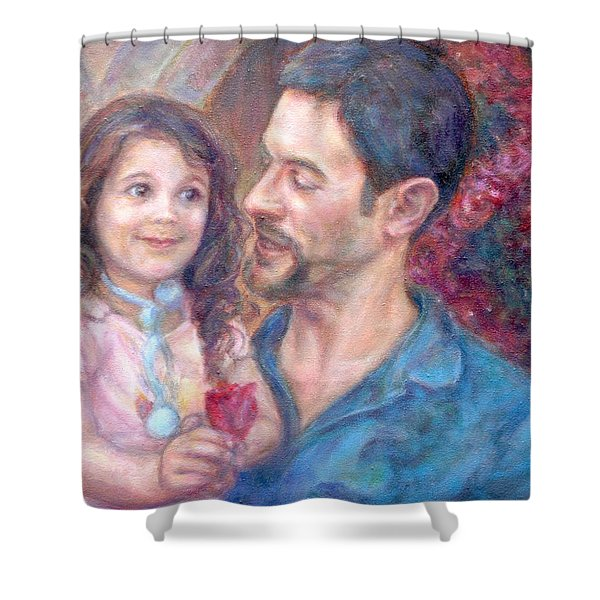Scott And Sam Commission Shower Curtain