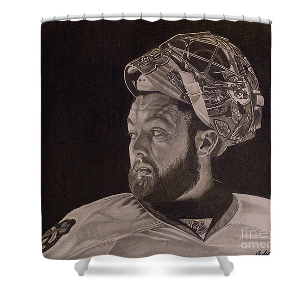 Scott Darling Portrait Shower Curtain