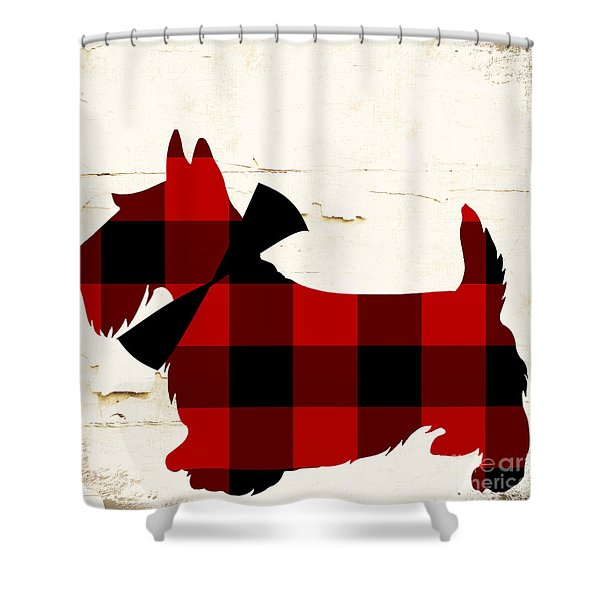 Scottish Terrier Tartan Plaid Shower Curtain