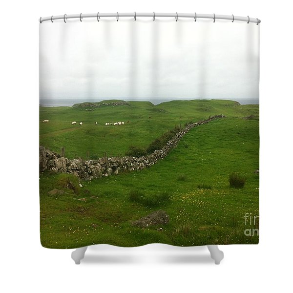 Scottish Wall Shower Curtain