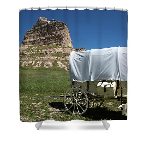 Scotts Bluff National Monument Nebraska Shower Curtain