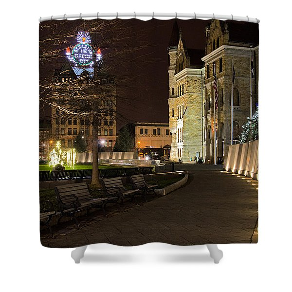 Scranton The Electric City Shower Curtain