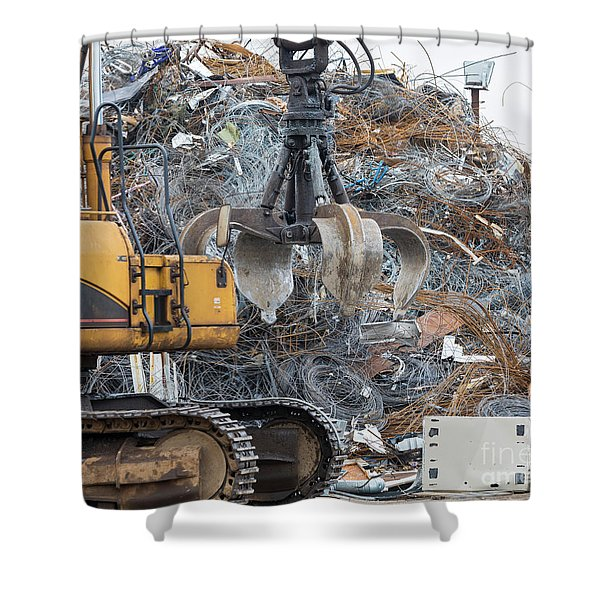 Scrap Metal Shower Curtain