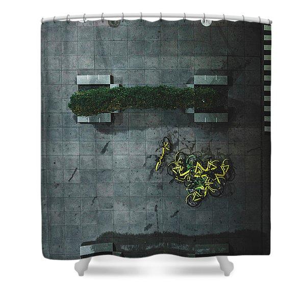 Scrap Metal Shower Curtain