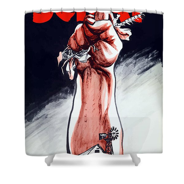 Scrap - Ww2 Propaganda Shower Curtain